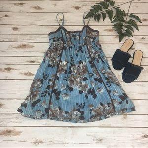 Kimchi Blue Blue/Brown Floral Sundress Mini- M